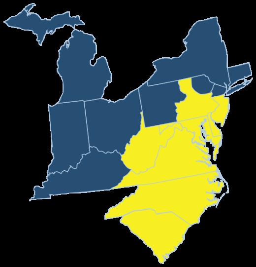 TTGP Mid-Atlantic Edition Map