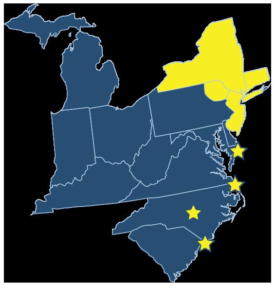 TTGP Northeast Edition Map