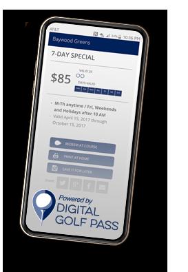 TTGP Digital Golf Pass Partnership example
